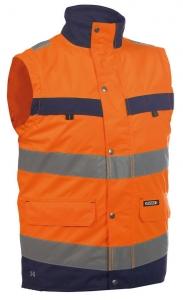 DASSY-Warnschutz-Weste BILBAO , orange/dunkelblau