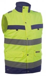 DASSY-Warnschutz-Weste BILBAO , gelb/dunkelblau