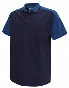 DASSY-Poloshirt CESAR,  dunkelblau/kornblau