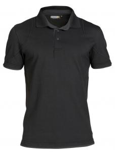 DASSY-Poloshirt ORBITAL,  schwarz/grau