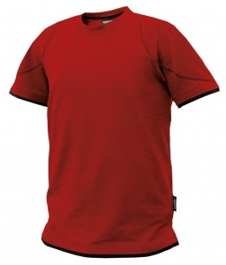 DASSY-T-Shirt KINETIC, rot/schwarz