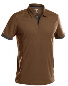 DASSY-Poloshirt TRAXION, braun/grau