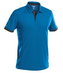 DASSY-Poloshirt TRAXION, kornblau/grau