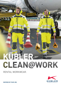 Kübler<br/><strong>CLEAN@WORK</strong><br/>2018/19 Logo