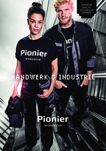 Pionier<br/><strong>Workwear</strong><br/>2018/19 Katalog