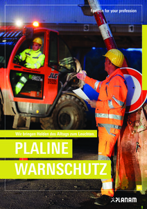 Planam<br/><strong>Plaline Warnschutz</strong><br/>2018/21 Logo