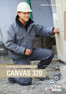 Planam<br/><strong>Canvas 320</strong><br/>2018/19 Katalog