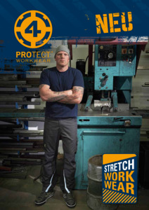 BIG<br/><strong>4PROTECT® Stretch-Workwear</strong><br/>2019 Katalog